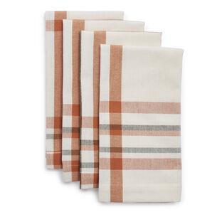 White Plaid Napkins, Set of 4
