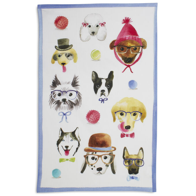 "Dog Kitchen Towel, 28"" x 18"""