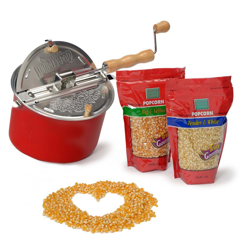 Red Whirley Pop Popcorn Love Gift Set