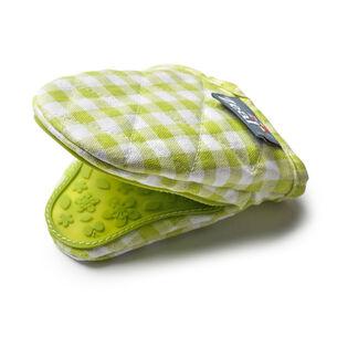 Mini Green Gingham Mitt