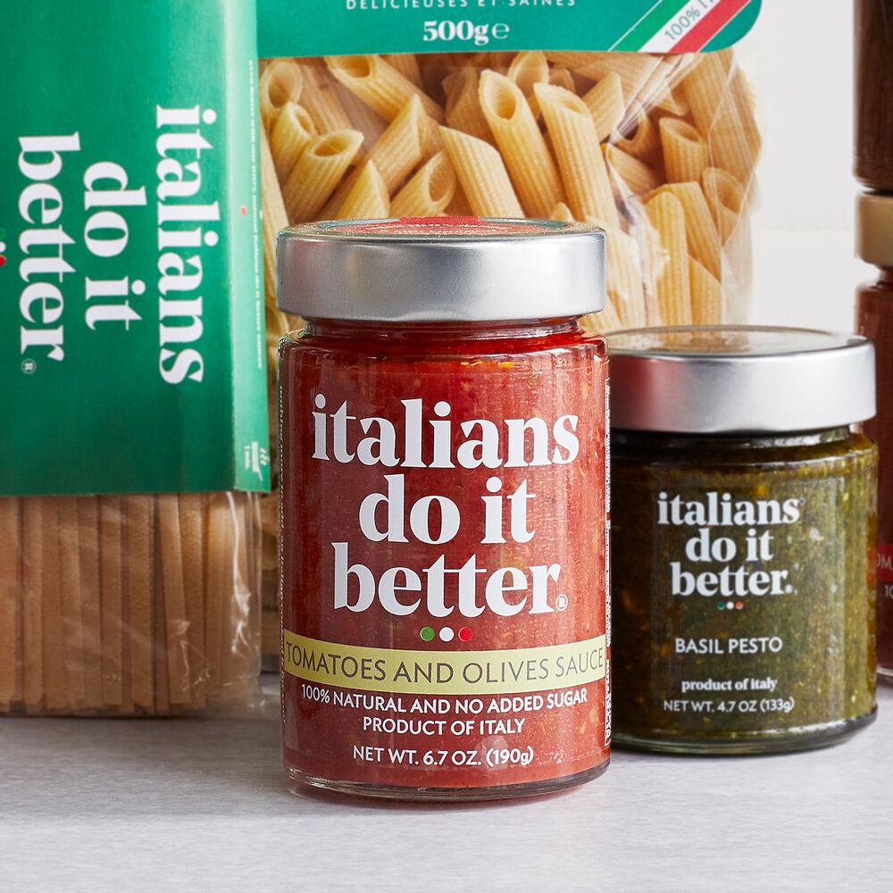 Italians Do It Better Tomatoes & Olives Puttanesca Sauce, 6.7 oz.