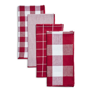 Assorted Plaid Napkins, Set of 4