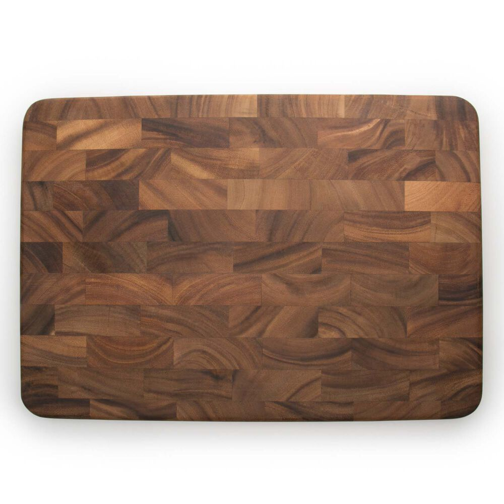 Acacia Wood Large End Grain Prep Station