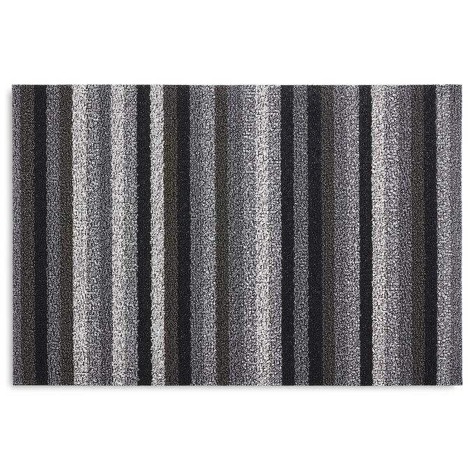 Chilewich Even Stripe Shag Mat, Mineral
