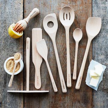 "Sur La Table Beechwood Slotted Spoon, 14"""