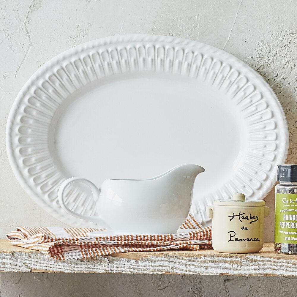 Porcelain Gravy Boat with Saucer