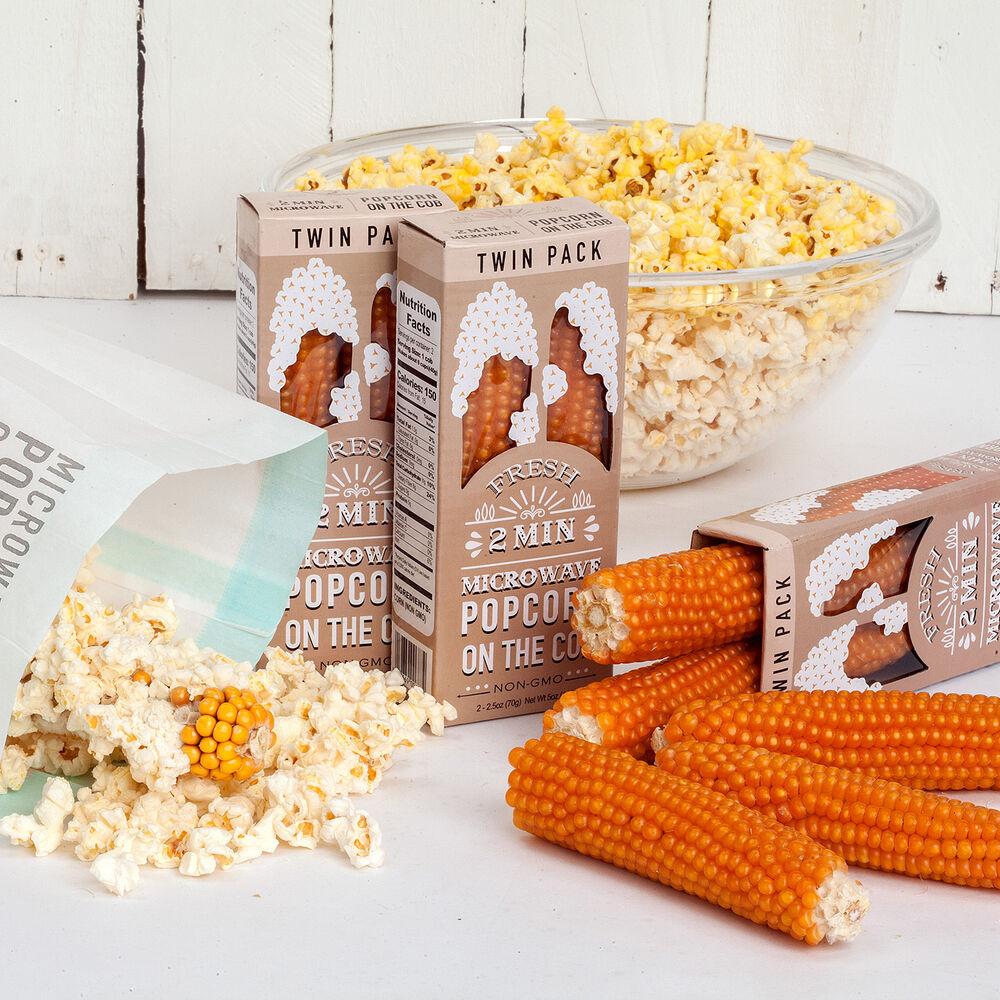 Microwave Popcorn on the Cob, 2-Pack