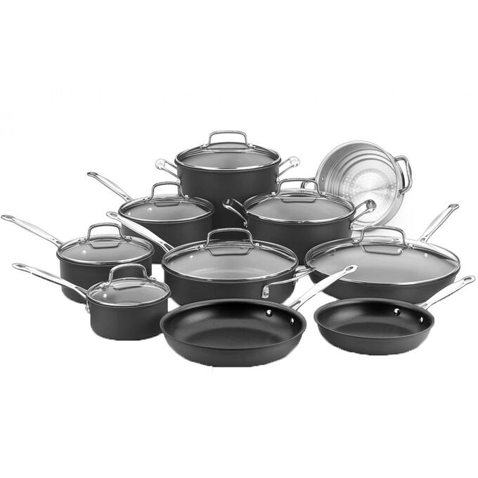 Cuisinart Chef's Classic Nonstick Hard-Anodized 17-Piece Cookware Set