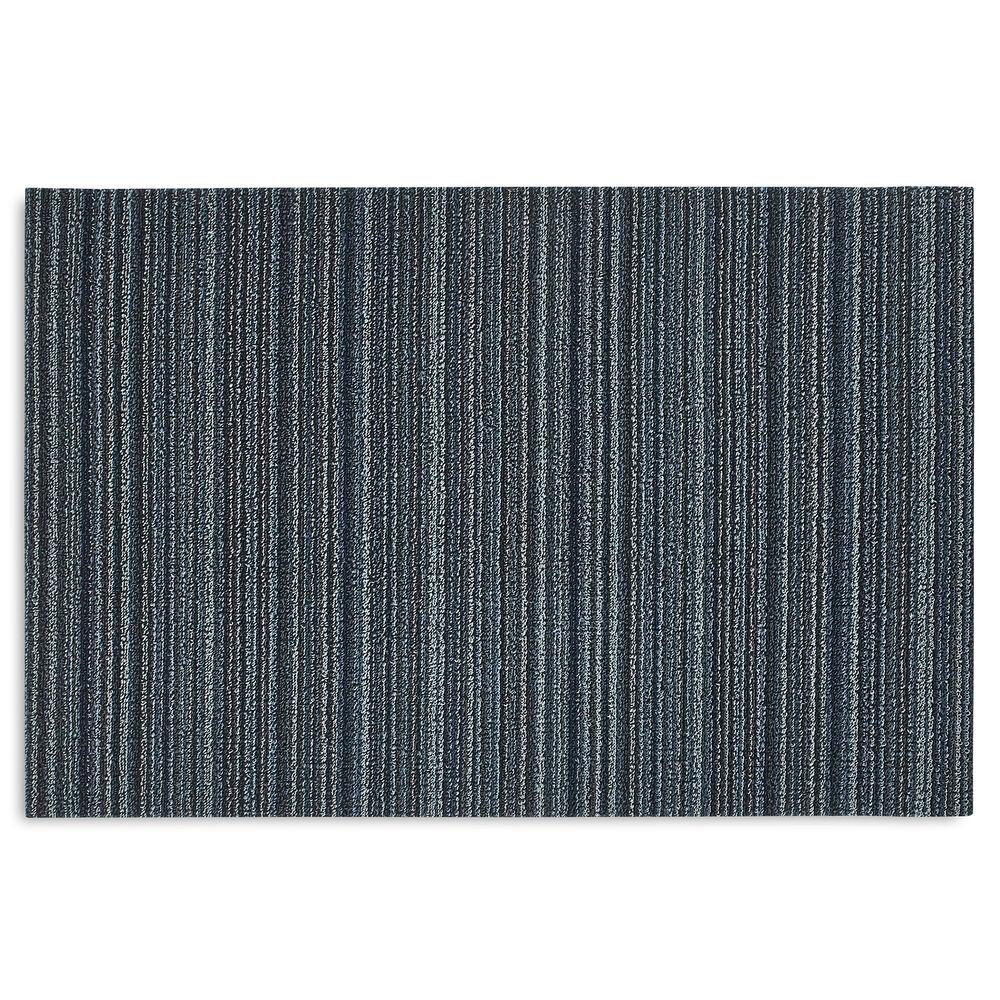 Chilewich Skinny Stripe Shag Mat, Blue