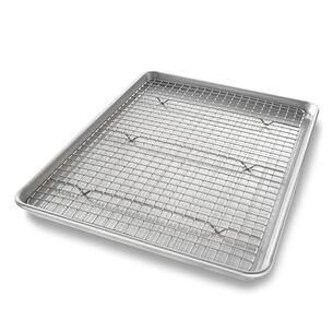 USA Pan Half Sheet Nonstick Pan and Bakeable Nonstick Cooling Rack Set