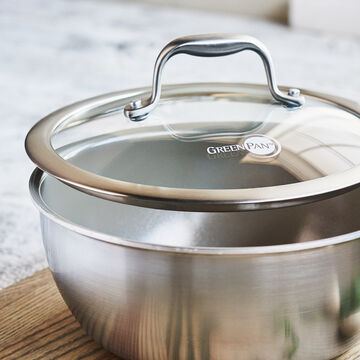 GreenPan Diamond + Evershine Saucier with Lid, 2.5 qt.
