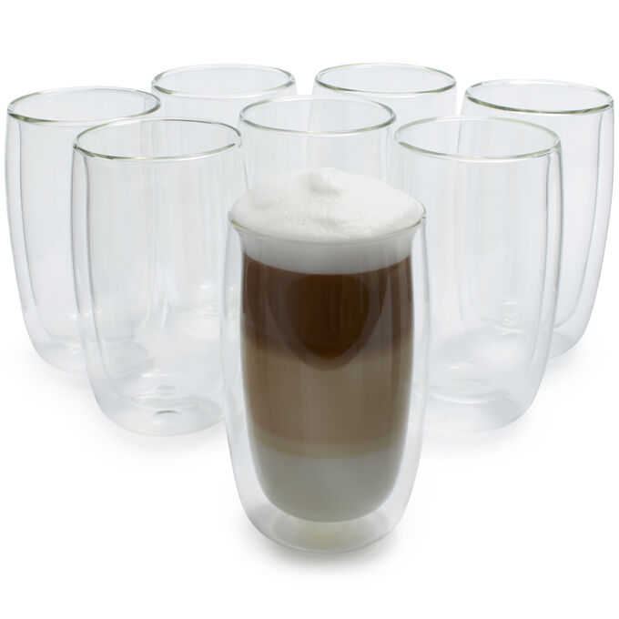 Zwilling J.A. Henckels Sorrento Double-Wall Latte Glasses, 11.8 oz.
