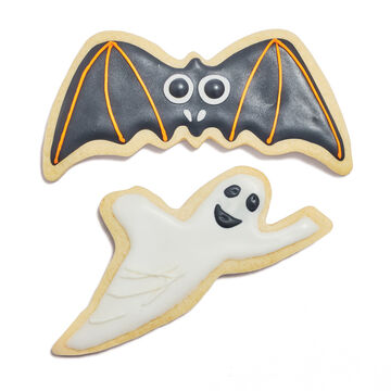 Ghost and Bat Silicone-Edge Cookie Cutters, Set of 2