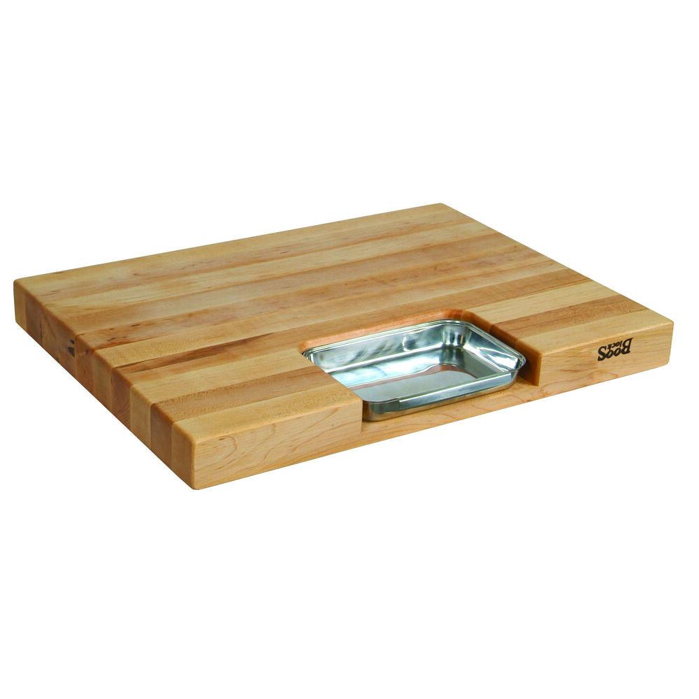 """John Boos & Co. Maple Edge-Grain Newton Prep Master Cutting Board, 24"""" x 18"""" x 2¼"""""""