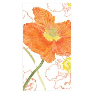 Poppy Field Guest Napkins, Set of 15