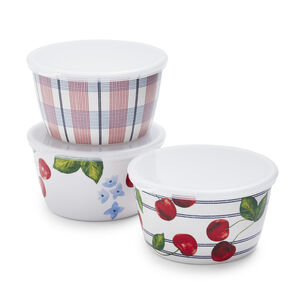 Melamine Picnic Condiment Bowls, Set of 3