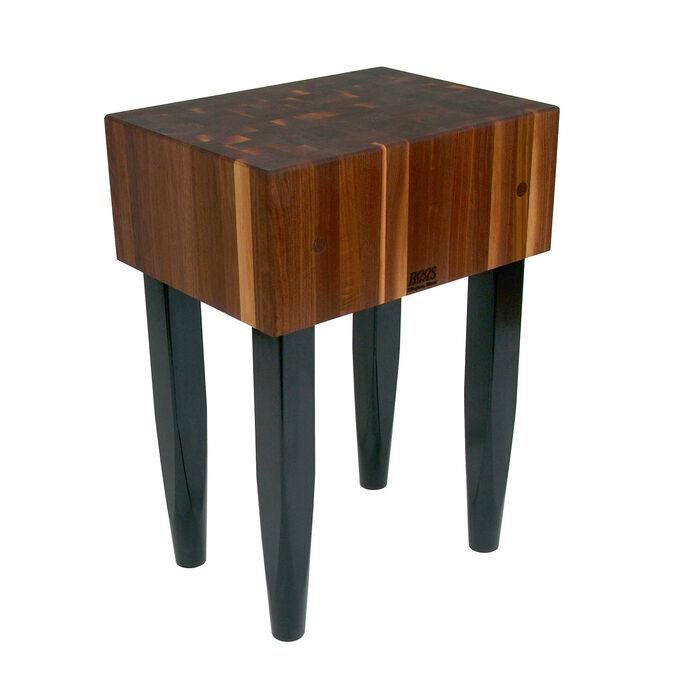 "John Boos & Co. Walnut Butcher Block Table, 24"" x 18"""