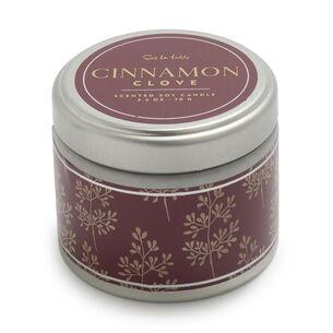 Tin Cinnamon Clove Scented Candle, 2.5 oz.