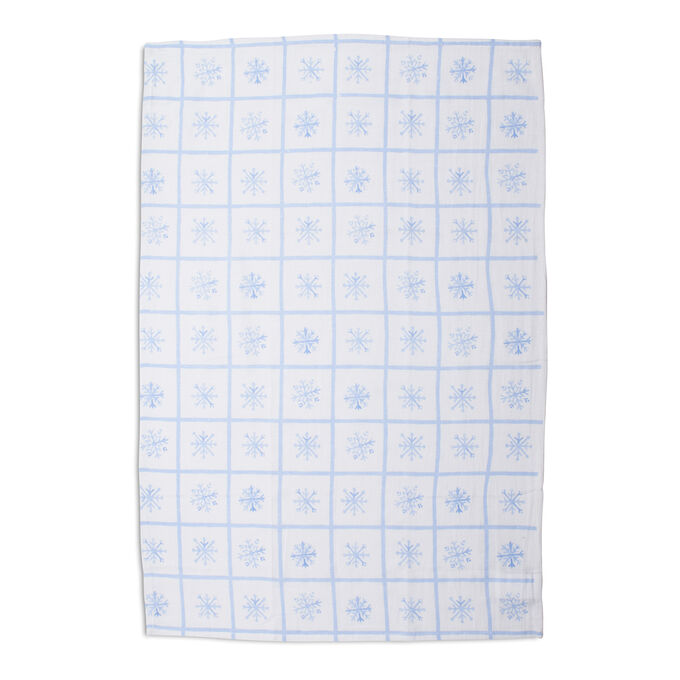 "Snowflake Flour Sack Kitchen Towel, 30"" x 20"""