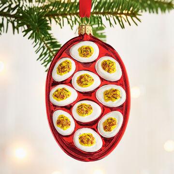Deviled Egg Glass Ornament