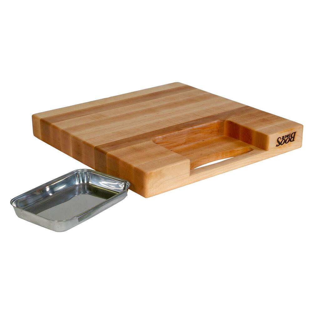 """John Boos & Co. Maple Edge-Grain Newton Prep Master Cutting Board, 18"""" x 18"""" x 2¼"""""""