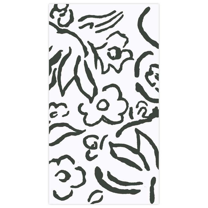 Matisse Black Guest Napkins, Set of 15