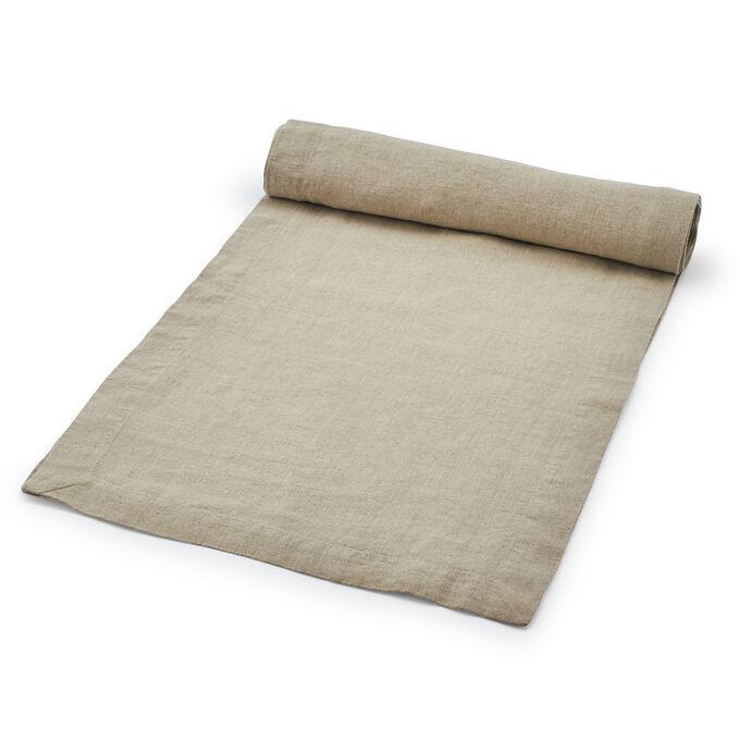 "Natural Linen Table Runner, 108"" x 16"""