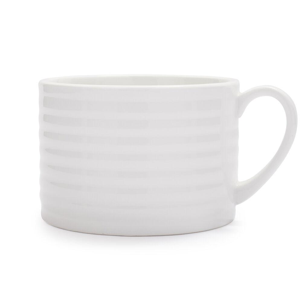 Porcelain Ribbed Mug