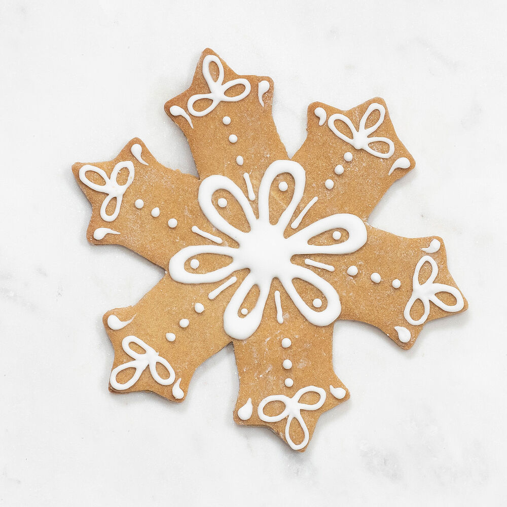 """Copper-Plated Snowflake Cookie Cutter with Handle, 4.5"""""""