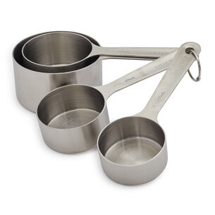 Sur La Table Stainless Steel Measuring Cups, Set of 4