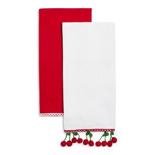 Cherry Crochet Kitchen Towels, Set of 2