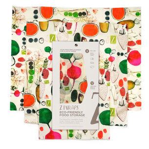 Z Wraps Reusable Farmer's Market Beeswax Wraps, Set of 3