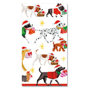 Christmas Delivery Dog Paper Guest Napkins, Set of 15