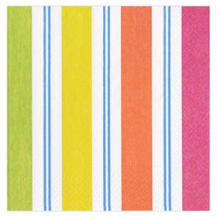 Awning Stripe Cocktail Napkins, Set of 20