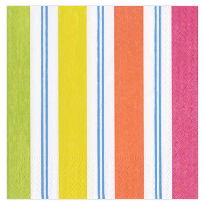 Awning Stripe Cocktail Napkins, Set of 20