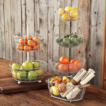 Brushed Aluminum Two-Tiered Stand