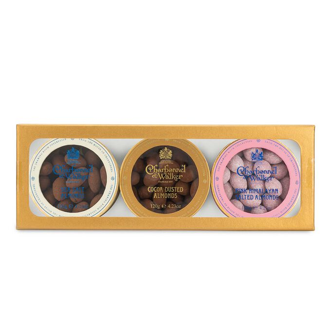 Charbonnel et Walker Cocoa-Dusted, Sea Salt and Pink Himalayan Almonds Gift Set