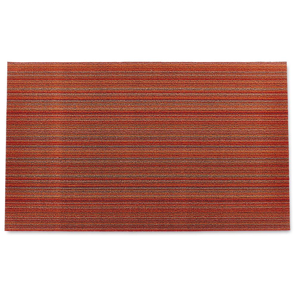 Chilewich Skinny Stripe Shag Mat, Orange