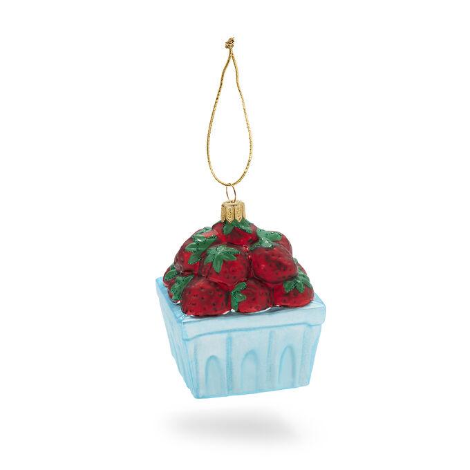 Berry Basket Glass Ornament