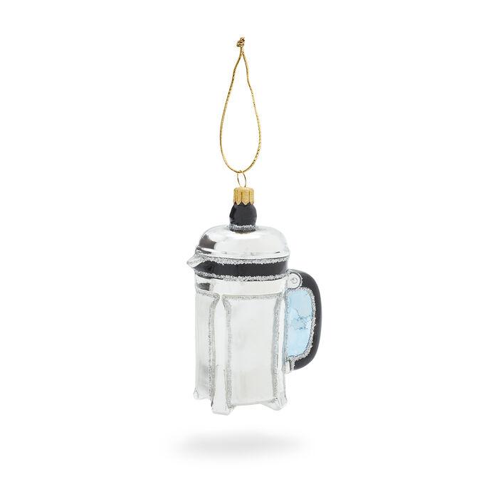 French Press Glass Ornament