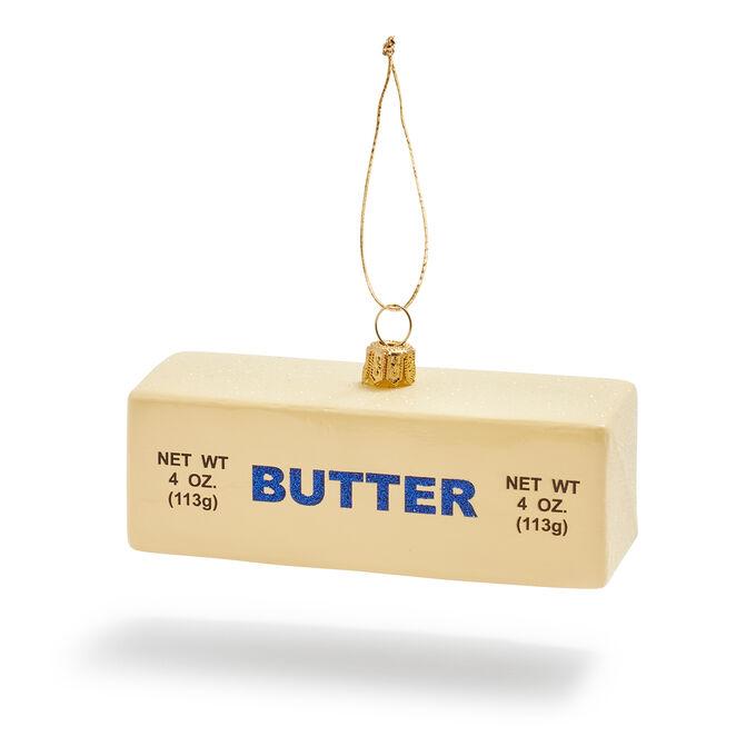 Butter Stick Glass Ornament