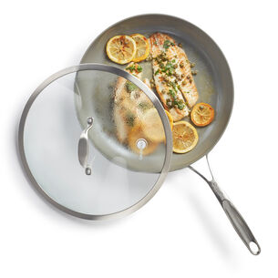 GreenPan Diamond + Evershine Skillet with Lid, 12""