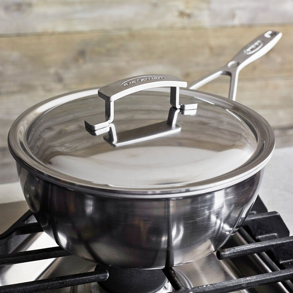 Demeyere Industry5 Essential Pan with Thermo Lid, 3.5 qt.