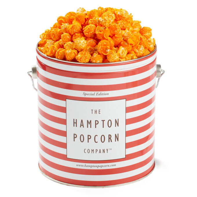 The Hampton Popcorn Co. Bacon Cheddar Popcorn Tin, 1 gallon