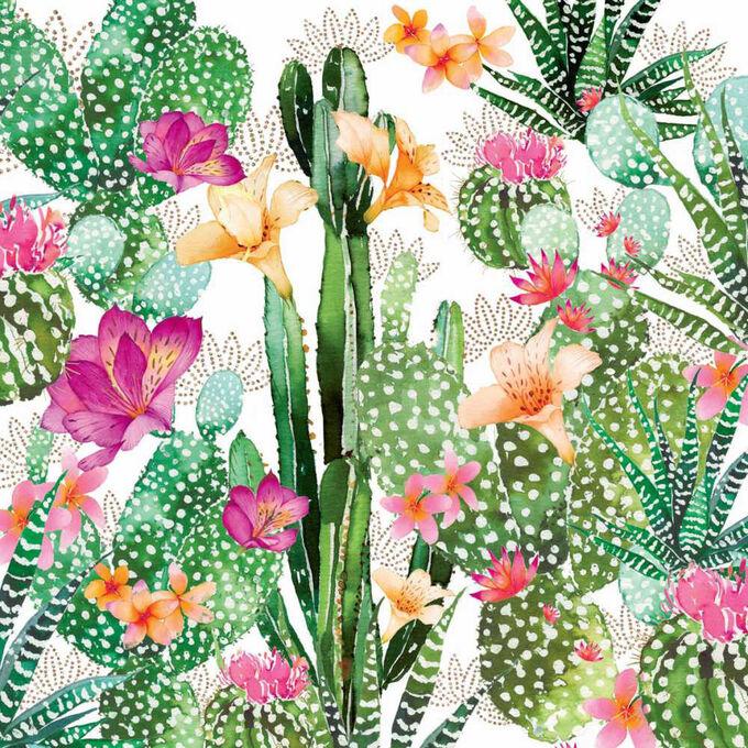Caspari Cactus Cocktail Napkins, Set of 20