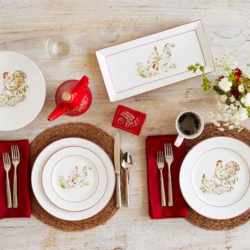 Farmhouse Rooster Dinner Plate