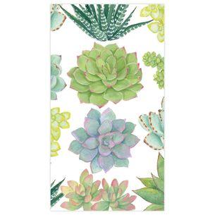 Succulents Guest Napkins, Set of 15