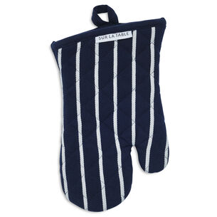 Blue Butcher Stripe Oven Mitt
