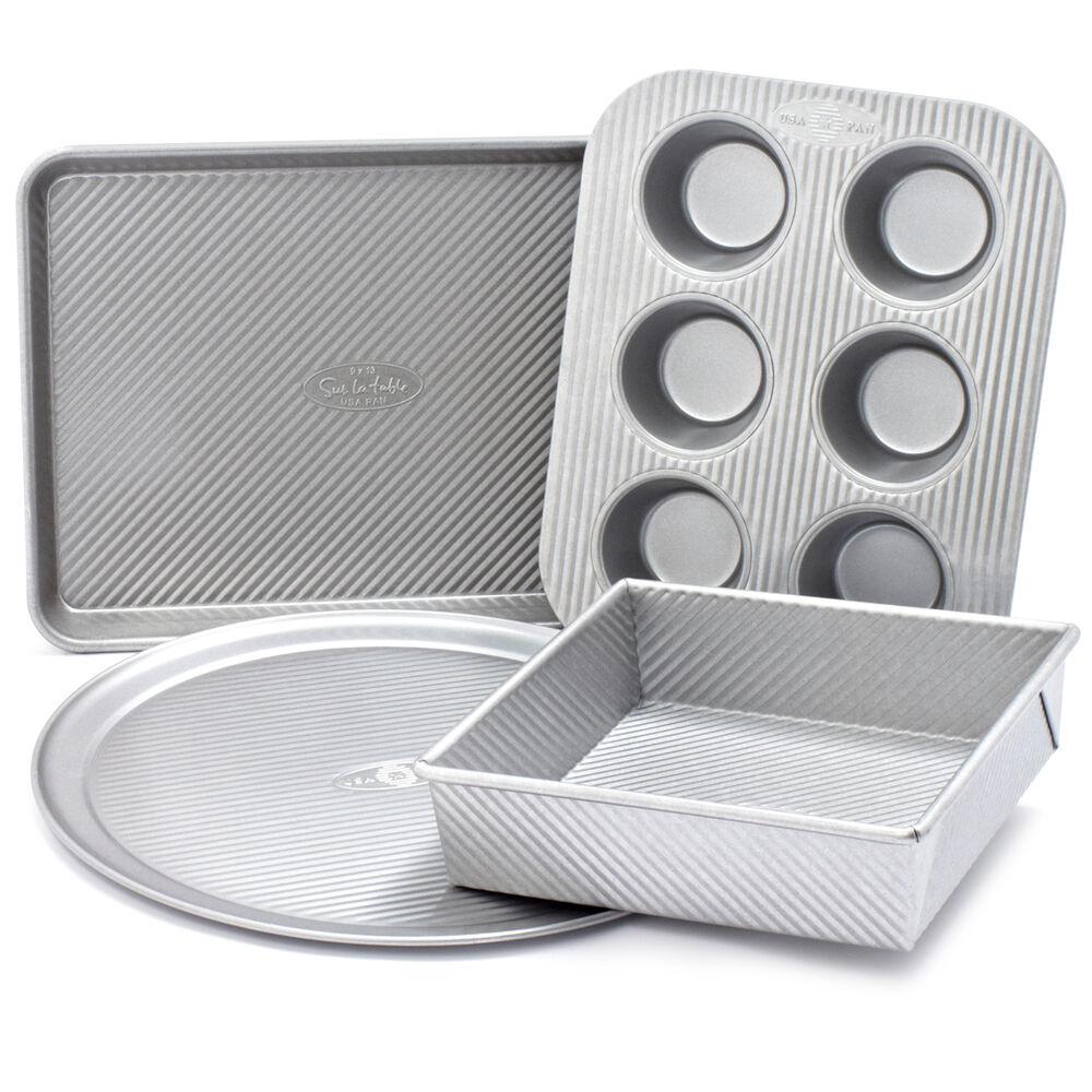Sur La Table Platinum Professional Toaster Oven 4-Piece Pan Set