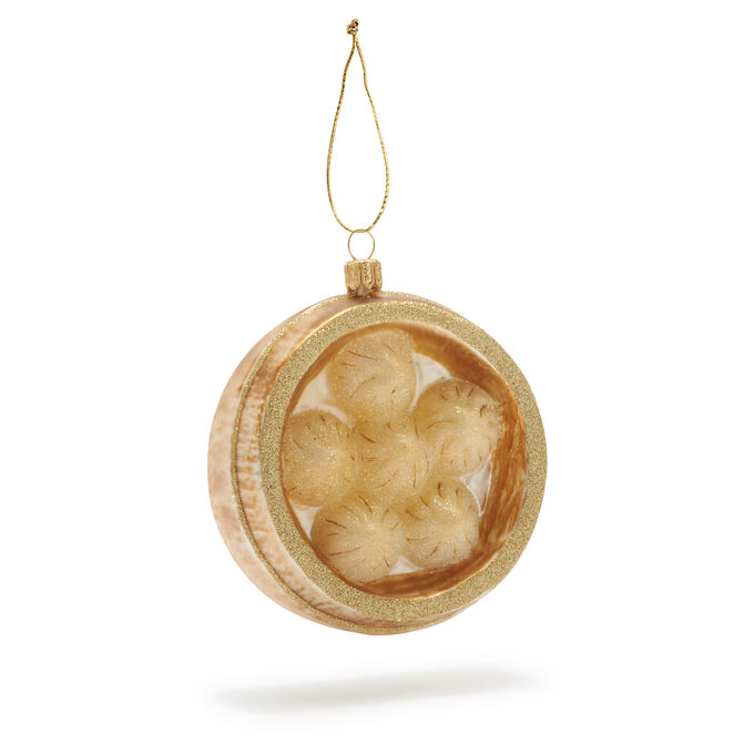 Dumplings Glass Ornament